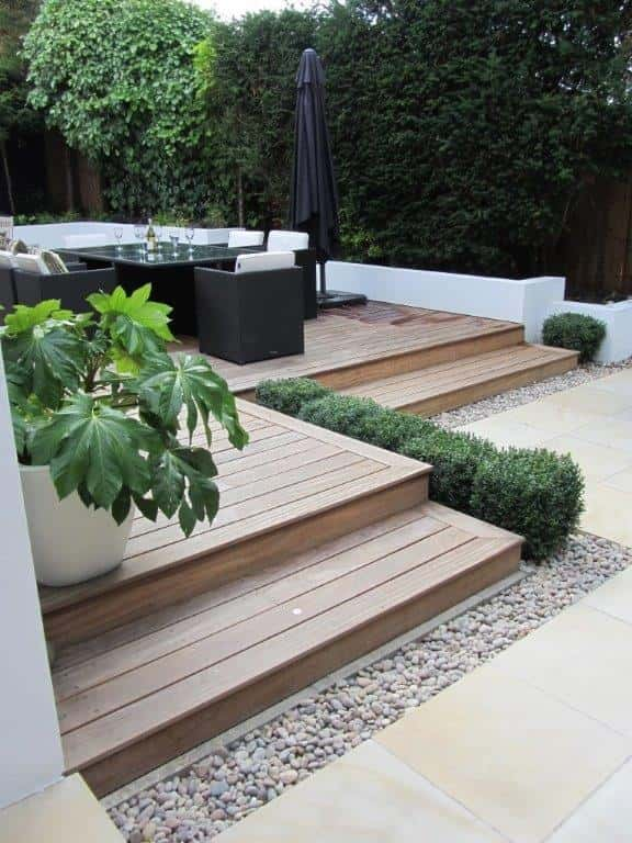 mixed decking ideas