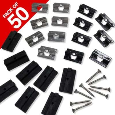 WPC & Stainless Steel Clips For WPC Decking - Compo Deck