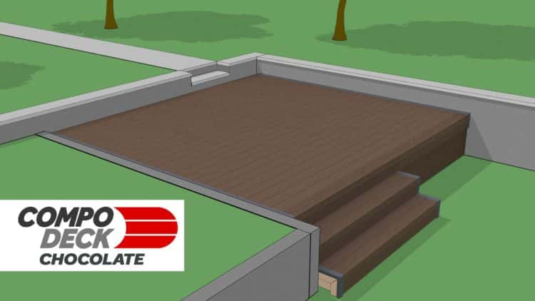 Compo Deck Chocolate Composite Decking