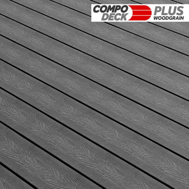 Compo Deck Plus Woodgrain WPC Decking Board Anthracite